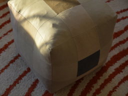 pouf en patchwork de denim